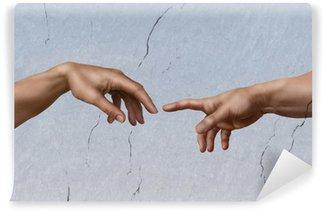 Vinyl-Fototapete Michelangelo: die Erschaffung Adams