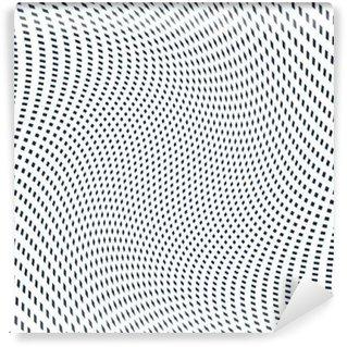 Vinyl-Fototapete Moire-Muster, Op-Art-Hintergrund. Hypnotic Kulisse mit geometr