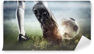 Vinyl-Fototapete Moment des Fußballtors