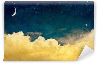 Vinyl-Fototapete Mond und Cloudscape