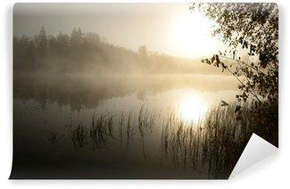 Vinyl-Fototapete Morgen Nebel über dem See