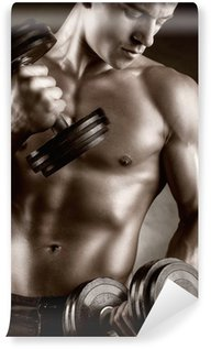 Vinyl-Fototapete Muskulöser Mann