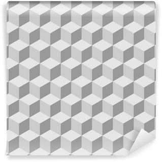 Vinyl-Fototapete Nahtlos Kachelbare isometrische 3D-Würfel-Muster
