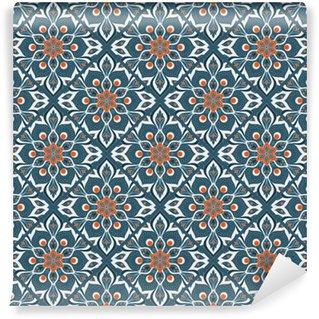 Vinyl-Fototapete Nahtlose Hand Mandala-Muster gezeichnet.
