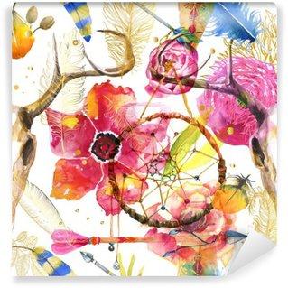 Vinyl-Fototapete Nahtlose Muster im Boho-Stil