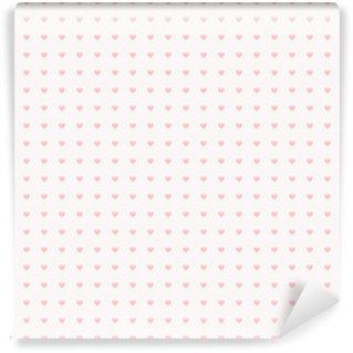 Vinyl-Fototapete Nahtlose Muster mit Herzen