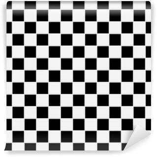 Vinyl-Fototapete Nahtlose schwarz-weiß karierten Textur