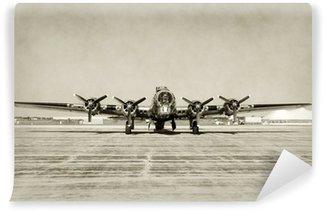 Vinyl-Fototapete Old bomber Frontansicht