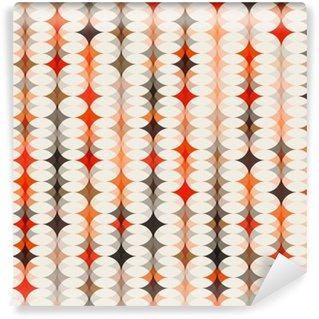 Vinyl-Fototapete Orange nahtlose Muster Hintergrund