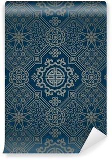 Vinyl-Fototapete Orientalischen Stil Tapete, nahtlose Muster
