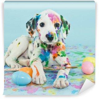 Vinyl-Fototapete Ostern Dalmatain Puppy
