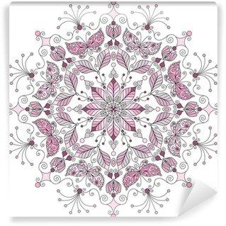 Vinyl-Fototapete Pastell runden Muster
