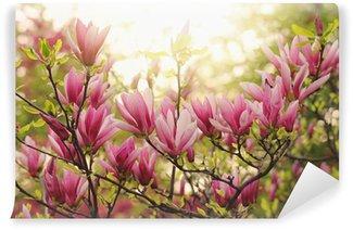 Vinyl Fototapete Pink Magnolia