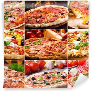 Vinyl Fototapete Pizza Collage