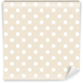 Vinyl-Fototapete Polka Dots auf neutralem Hintergrund retro nahtlose Vektor-Muster