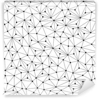 Vinyl-Fototapete Polygonal Hintergrund, nahtlose Muster, Linien und Kreise