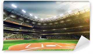 Vinyl-Fototapete Professionelle Baseball-Grand Arena in Sonnenlicht