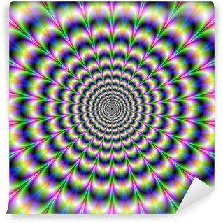 Vinyl-Fototapete Psychedelic Pulse in lila und grün
