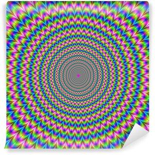 Vinyl-Fototapete Psychedelic Ringe