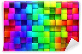 Vinyl-Fototapete Rainbow of colorful boxes