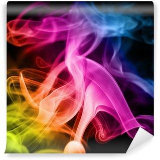 Vinyl-Fototapete Regenbogen-Rauch