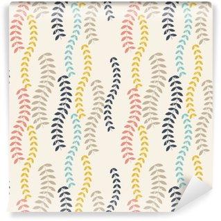 Vinyl-Fototapete Retro Blätter-Muster.