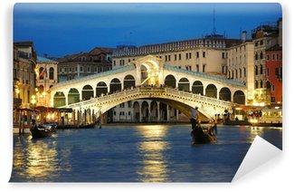 Vinyl-Fototapete Rialto Brücke in Venedig