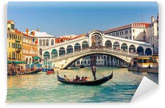 Vinyl-Fototapete Rialto-Brücke in Venedig.
