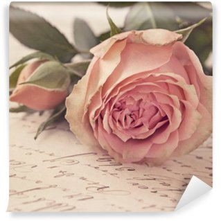 Vinyl-Fototapete Rosarote rosa
