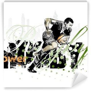 Vinyl-Fototapete Rugby 1