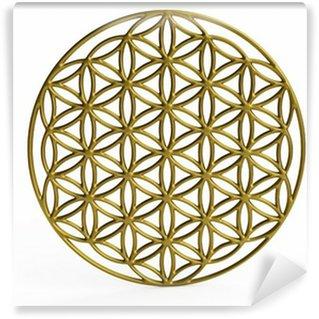 Vinyl-Fototapete Sakrale Symbol Blume des Lebens in 3D