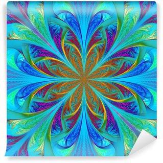 Vinyl-Fototapete Schöne mehrfarbige fraktalen Blume. Computer generierte Grafiken