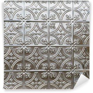Vinyl-Fototapete Schöne Zinn Decke oder Wand Fliesen