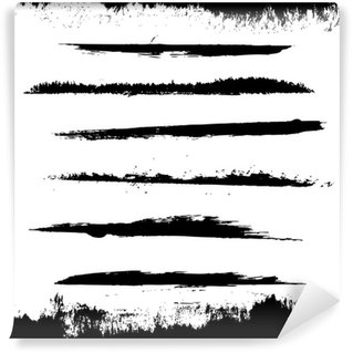 Vinyl-Fototapete Schwarz Blots