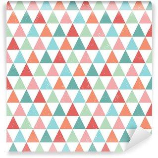 Vinyl-Fototapete seamless hipster geometric pattern bright pastel colors