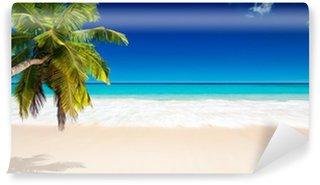 Vinyl Fototapete Seychellen Strand