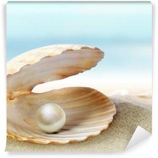 Vinyl-Fototapete Shell mit einer Perle