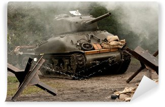 Vinyl-Fototapete Sherman Tank - WW II
