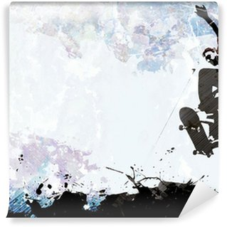 Vinyl-Fototapete Skateboarding Grunge-Layout