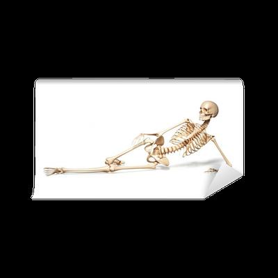 Fototapete skelett des menschen frauen am boden liegend for Boden aktionscode
