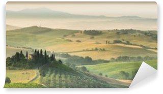 Vinyl-Fototapete Sommer Landschaft der Toskana, Italien