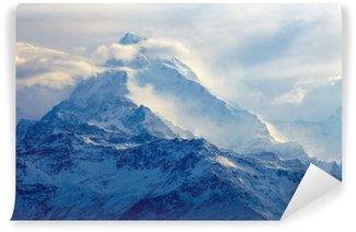 Vinyl Fototapete Sonnenaufgang in den Bergen
