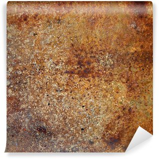 Vinyl-Fototapete Stark rostigen Metallplatte