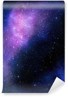 Vinyl-Fototapete Sternenhimmel tiefen Weltraum nebual und Galaxie
