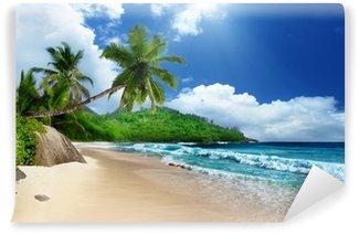 Vinyl Fototapete Strand an der Insel Mahé, Seychellen