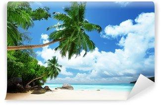Vinyl Fototapete Strand auf Mahé auf den Seychellen
