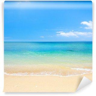Vinyl Fototapete Strand und tropischen Meer