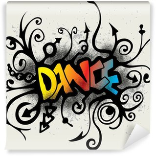 Vinyl-Fototapete Tanz - Graffiti-Stil