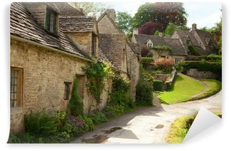 Vinyl-Fototapete Traditional Cotswold Cottages in England. Bibury, UK.