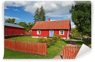 Schwedische traditionelle muster  Fototapete Red Ferienhäuser in Brändaholm, Schweden • Pixers ...